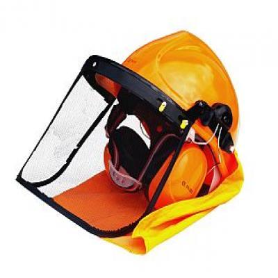 HECHT 900100 - ochranná helma se sluchátky a štítem CE