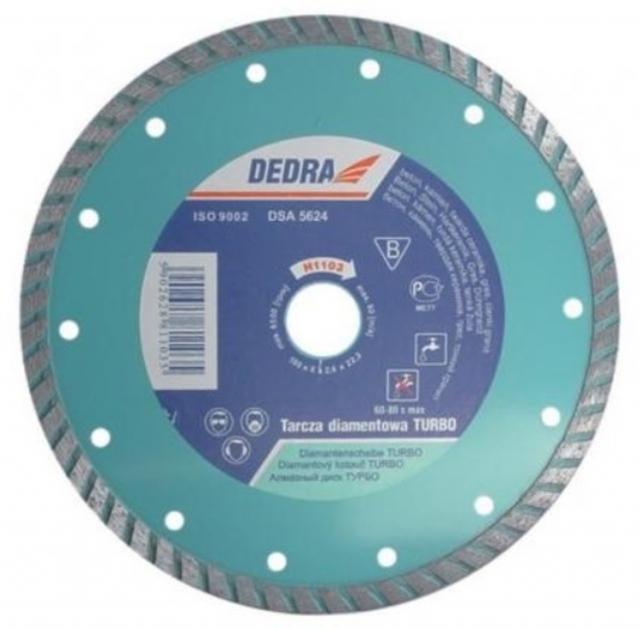 Dedra H1104 Diamantový řezný kotouč 230x22.2mm TURBO