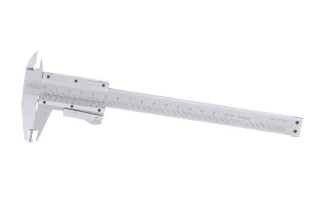 Měřítko posuvné 150 mm s aretací, tlačítko (106015)
