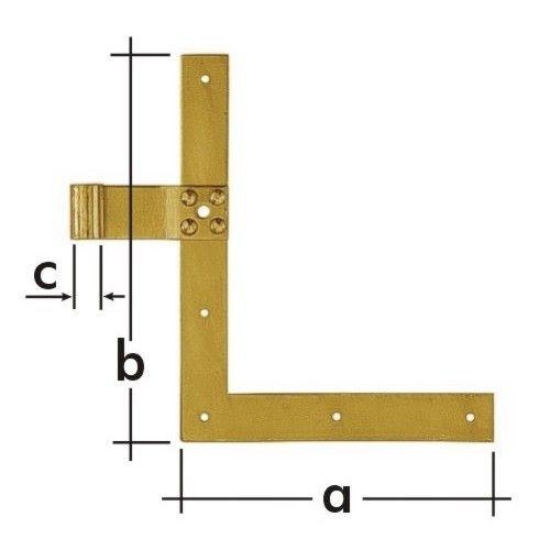 Závěs okenicový jednoduchý ZN 250 d 13