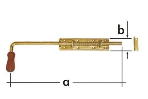 Zástrč pružinová s dřevěnou koncovkou WSP 150  150x50mm 8620