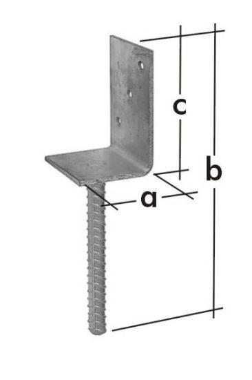 Patka sloupku typu L