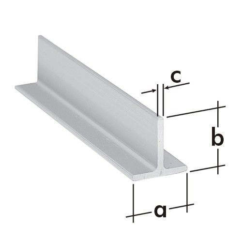 Profil typu T  ALU 25x25x2mm/1 m PT 4 A 76031