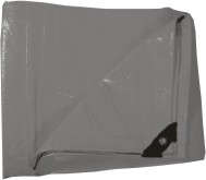 Plachta zakrývací 4x5m 130 g / m2 - šedá (102273)