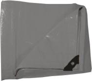 Plachta zakrývací 4x6m 130 g / m2 - šedá (102274)