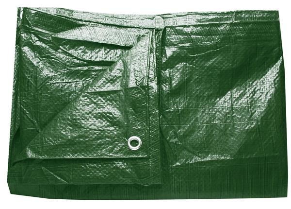 Plachta zakrývací 6x10m 80 g / m2 - zelená (102228)