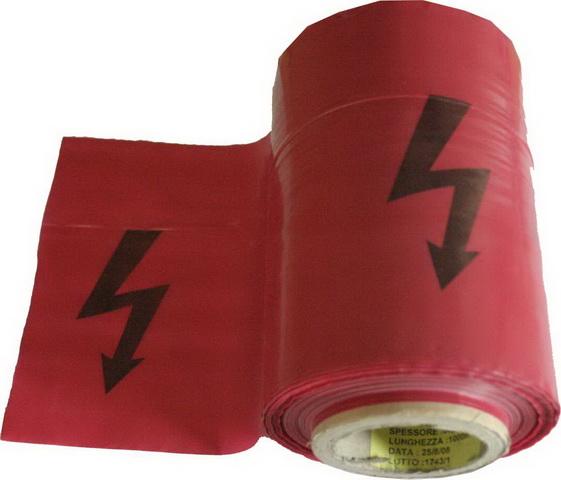 Páska výstražná červená BLESK 250m x 22cm - 90my (108124)