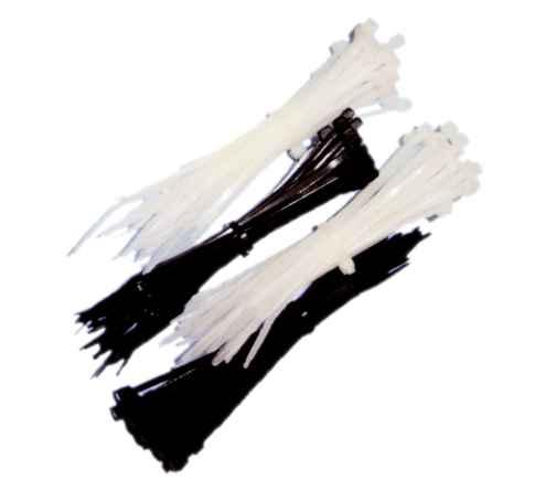 Stahovací páska bílá 300 x 4,8 / 50 ks / (108239)