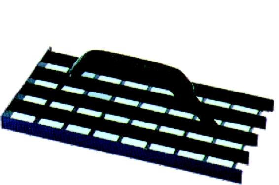 Škrabák plošný na omítky 27 x 13 cm ocelový (104434)