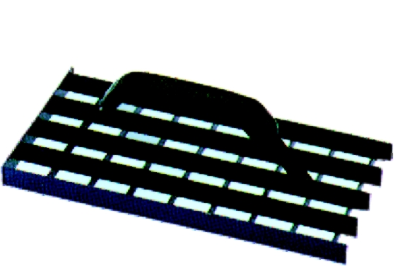 Škrabák plošný na omítky 37 x 17 cm ocelový (104433)