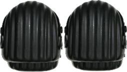 Nákoleníky gumové 2 ks, černé (104345)