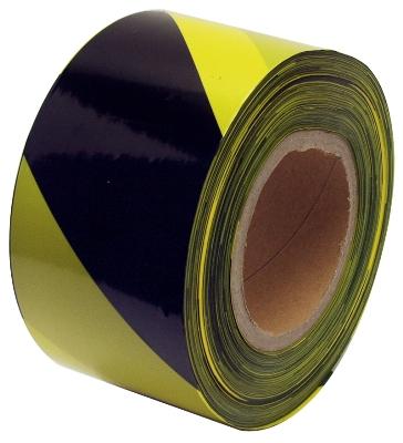 Páska barierová černo-žlutá 250 m (38946)
