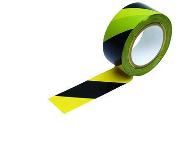 Páska barierová černo-žlutá, samolepící 33 m (38947)