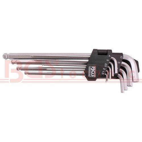 Klíče imbus extra dlouhé s kuličkou 9 ks ( BGS 100790 )