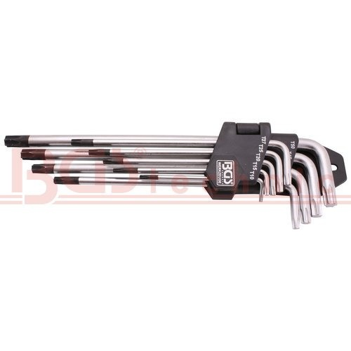 Klíče T-profil, s vrtáním, 9 ks ( BGS 100794 )