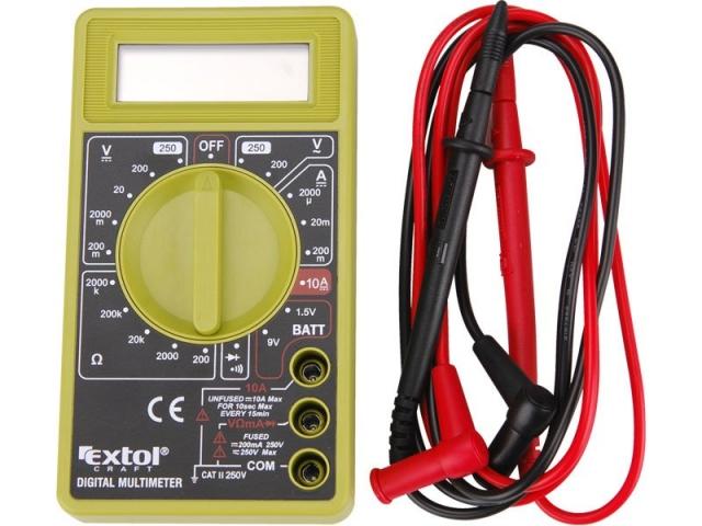 Extol Craft 600011 Multimetr digitální s akustickou signalizací
