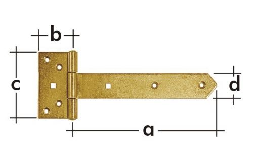 Závěs brankový ZBW500 500x40x110mm 8114