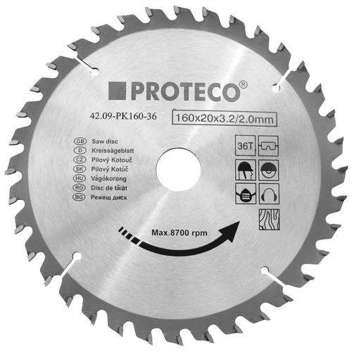 Kotouč pilový SK 200x2.6x30 40z + redukce 30/20 mm Proteco PK200-40