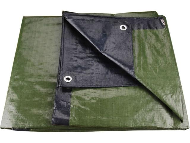 Plachta zakrývací 4x5m 200 g / m2 - zeleno-modrá (8878207)