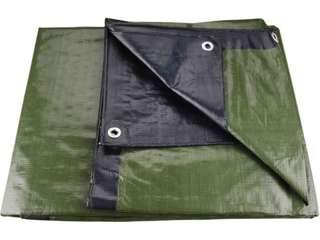 Plachta zakrývací 4x6m 200 g / m2 - zeleno-modrá (8878208)