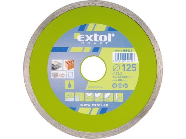 Extol Craft 108831 Kotouč diamantový řezný 115mm celoobvodový - mokré řezání