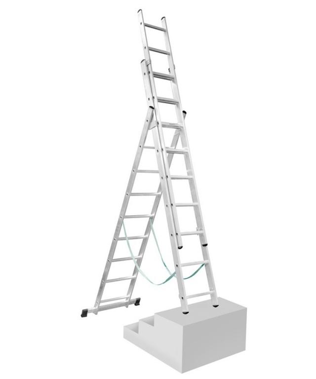 Žebřík 3x9 s úpravou na schody Proteco S-3-09