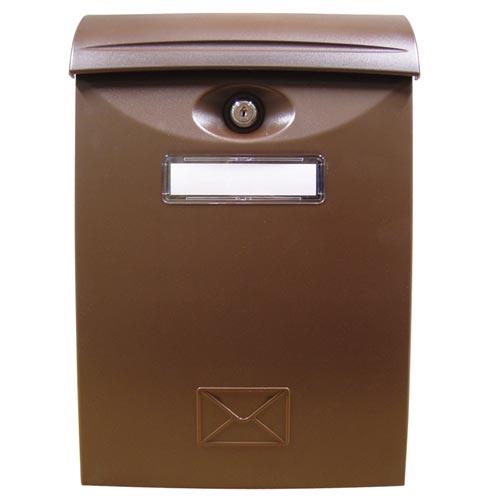 Schránka poštovní ABS 240x340 HNĚDÁ