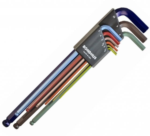 Sada imbusových klíčů s kuličkou, metrické LWR XL  Bondhus 69699
