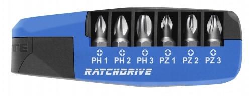 Kompaktní ráčna s bity PH/PZ RATCHDRIVE Witte 25101