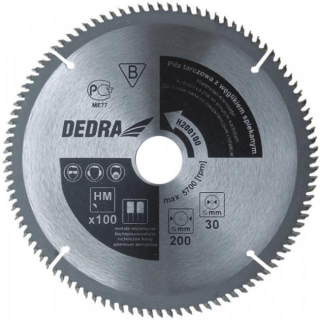 Dedra H205100 pilový kotouč 205x30mm 100 zubů na neželezné kovy