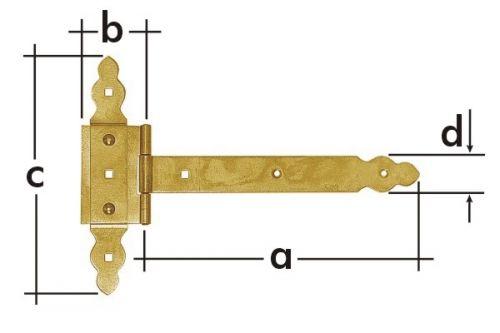 Závěs brankový ozdobný ZBNO350 350x60x215mm 8143