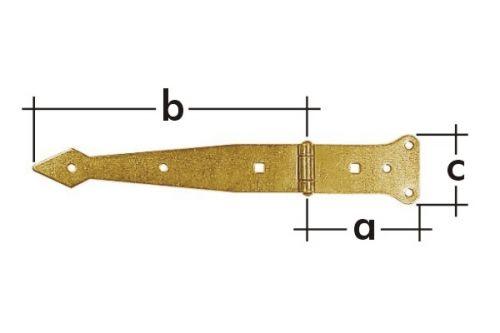 Závěs brankový pásový ZBP300 300x80x50mm 8163