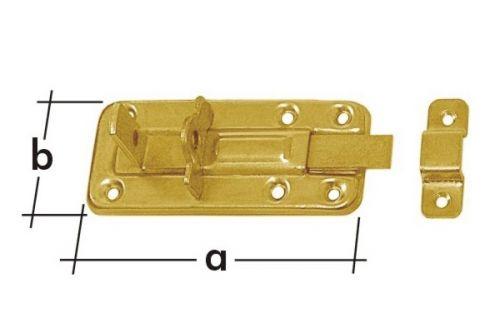 Zástrč zamykací rovná WZTW100 100x40mm 8552
