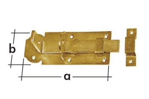 Zástrč zamykací rovná WZP80 80x30mm 8531