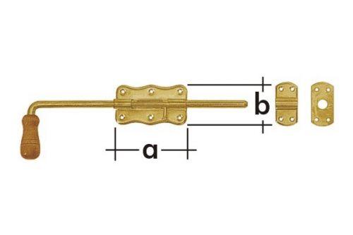 Zástrč zasouvací s dřevěnou koncovkou WRG 120 - 8624