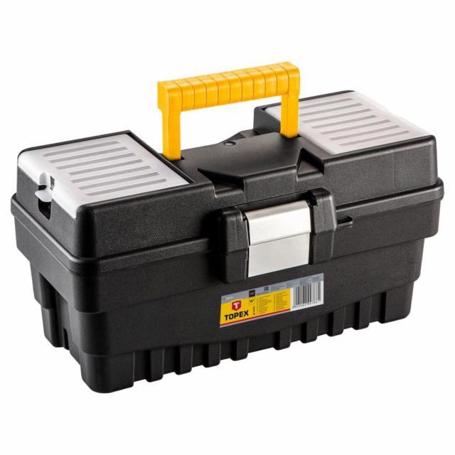 """Box plastový na nářadí 19"""" s kovovým kováním Topex 79R132"""