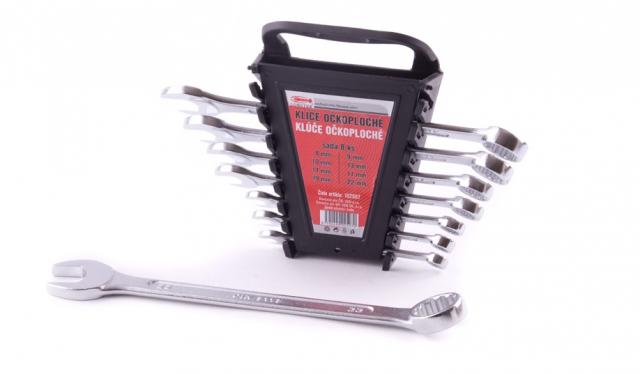 Klíče očkoploché 6-22mm sada 8ks Lobster 102507