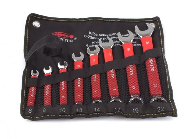 Klíče očkoploché 6-22mm sada 8ks Lobster 102524