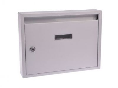 M.A.T. Group Schránka poštovní paneláková 320x240x60mm bílá, bez děr