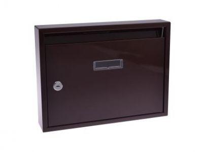 M.A.T. Group Schránka poštovní paneláková 320x240x60mm, hnědá, bez děr