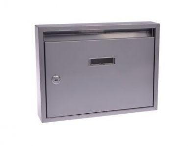 M.A.T. Group Schránka poštovní paneláková 320x240x60mm, šedá, bez děr