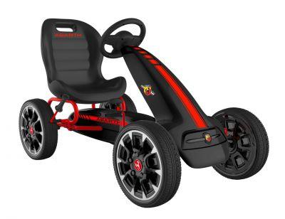ABARTH - black - šlapací motokára