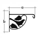 Držák na závěsný květináč UK 3 / ptáček /