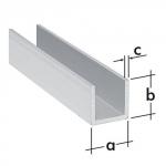Profil typu U  ALU 10x10x1,5mm/1 m PC 3 A 75151