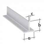 Profil typu T  ALU 20x20x2mm/1 m PT 3 A 76021