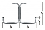 Držák stropního typu T