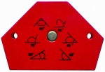 Magnet úhlový 135 x 105 mm pro úhly 30,45,60,75,90 stupňů Proteco 42.04-450