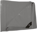 Plachta zakrývací 10x15m 130 g / m2 - šedá (102278)