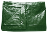 Plachta zakrývací 4x6m 80 g / m2 - zelená (102227)