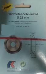 Kolečko do řezačky tl. 4,8 pr. 22x6mm Topline